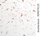 red and silver confetti. vector ...   Shutterstock .eps vector #509079115