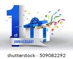1st years anniversary... | Shutterstock .eps vector #509082292