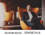 young serious successful man... | Shutterstock . vector #509087416