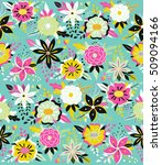 seamless pattern with beautiful ...   Shutterstock .eps vector #509094166