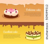 delicious and excellent cake... | Shutterstock .eps vector #509099512