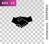 handshake icon vector. | Shutterstock .eps vector #509099842