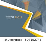 vector abstract frame.... | Shutterstock .eps vector #509102746