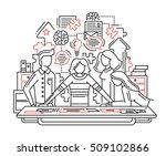 illustration of vector modern... | Shutterstock .eps vector #509102866