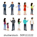 set of customers and sellers... | Shutterstock .eps vector #509111122