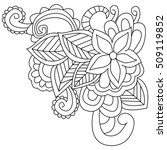 flower coloring book for adults ... | Shutterstock . vector #509119852