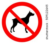no dogs allowed. dogs... | Shutterstock .eps vector #509122645