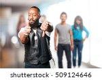 motorcyclist man doing looser... | Shutterstock . vector #509124646