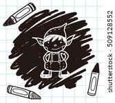 christmas elf doodle | Shutterstock .eps vector #509128552