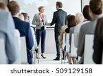 business people shaking hands... | Shutterstock . vector #509129158