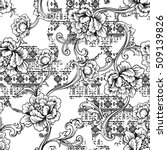 eclectic fabric seamless... | Shutterstock .eps vector #509139826