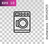 washing machine icon vector. | Shutterstock .eps vector #509142925