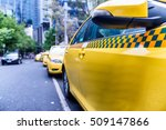 parked taxi in melbourne street ... | Shutterstock . vector #509147866