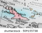 map view of holguin  cuba on a... | Shutterstock . vector #509155738