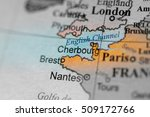 map view of cherbourg  france... | Shutterstock . vector #509172766