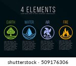 nature 4 elements in circle... | Shutterstock .eps vector #509176306