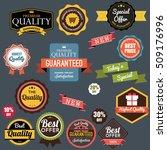 vintage retro flat badges... | Shutterstock .eps vector #509176996