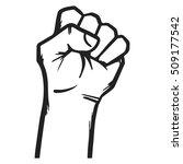 jammed fist  strong hand vector ... | Shutterstock .eps vector #509177542