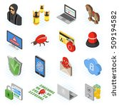 internet security isometric... | Shutterstock .eps vector #509194582