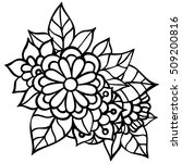 coloring book for adult and... | Shutterstock .eps vector #509200816