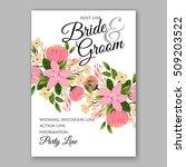 wedding invitation with... | Shutterstock .eps vector #509203522