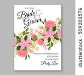 wedding invitation with... | Shutterstock .eps vector #509203576