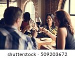 restaurant chilling out classy... | Shutterstock . vector #509203672