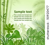 background with tropical plants | Shutterstock .eps vector #50920477