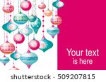 christmas background with with... | Shutterstock . vector #509207815