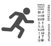 running man icon and bonus man... | Shutterstock .eps vector #509213086