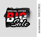 grunge ink design big sale... | Shutterstock .eps vector #509215852