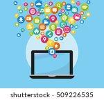 social media networking icon... | Shutterstock .eps vector #509226535