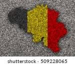map and flag of belgium on... | Shutterstock . vector #509228065