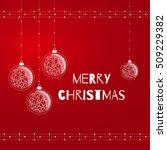merry christmas card.... | Shutterstock .eps vector #509229382