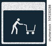 shopping cart calendar page... | Shutterstock .eps vector #509230288