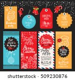 christmas restaurant brochure ... | Shutterstock .eps vector #509230876