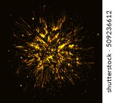 gold vector explosion abstract... | Shutterstock .eps vector #509236612