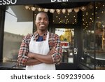 black male business owner... | Shutterstock . vector #509239006