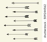 set arrows vector  | Shutterstock .eps vector #509244562