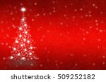 christmas tree of snowflakes... | Shutterstock . vector #509252182