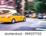 Nyc Taxi In Motion. Blurred ...