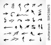 hand drawn arrows  vector set | Shutterstock .eps vector #509258875
