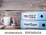 made in usa. two binders on... | Shutterstock . vector #509260426