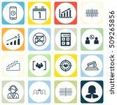 set of 16 universal editable... | Shutterstock .eps vector #509265856