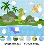 funny cute pterodactyl ... | Shutterstock . vector #509265982