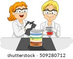 illustration of preschool kids... | Shutterstock .eps vector #509280712