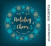 christmas holiday cheer card.... | Shutterstock .eps vector #509280916