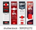 design of vertical web banners... | Shutterstock .eps vector #509291272
