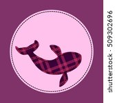 patch with whale. vector... | Shutterstock .eps vector #509302696