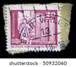 gdr   circa 1987  a stamp... | Shutterstock . vector #50932060
